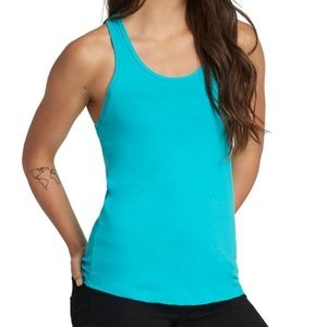 American Apparel Teal Ribbed Tank